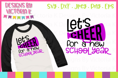 Let's cheer for a new school year, cut file, SVG, DXF, PNG