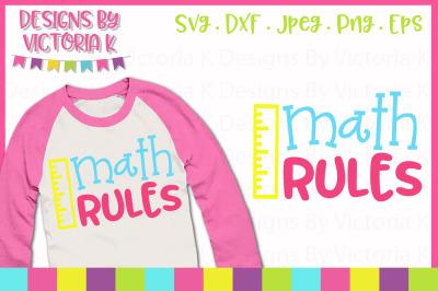 Math rules, School cut file, SVG, DXF, PNG