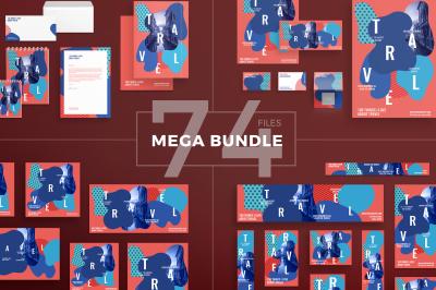 Design templates bundle | flyer, banner, branding | Travel Agency