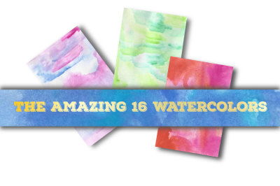 The Amazing 16 Watercolors