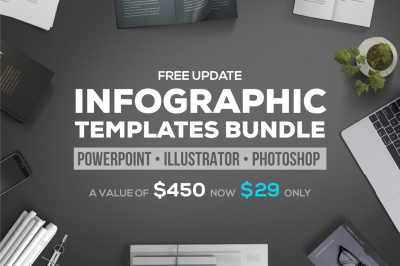 PPT infographic elements bundle