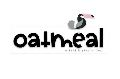 Oatmeal - A Bold Handwritten Font