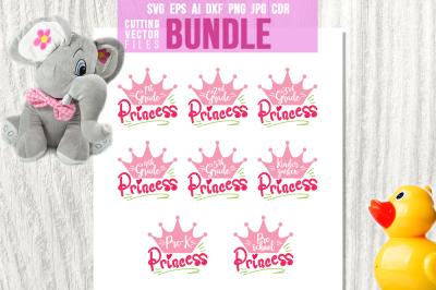 Princess Bundle - svg, eps, ai, cdr, dxf, png, jpg