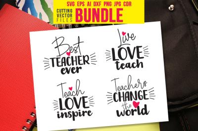 Teacher - Bundle - svg, eps, ai, cdr, dxf, png, jpg