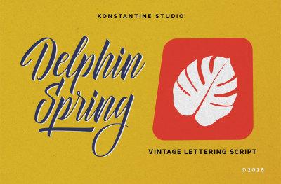 Delphin Spring - Vintage Script