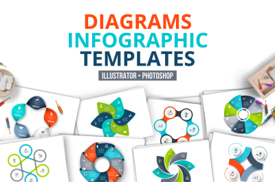 Diagrams infographic templates