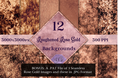 Roughened Rose Gold - 12 Background Images with Bonus Content