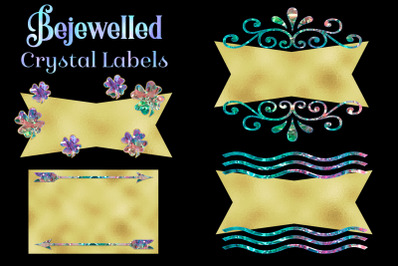 Bejewelled Crystal Labels