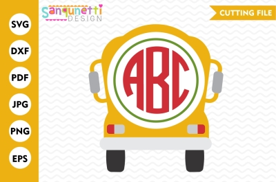 School Bus Monogram svg, School bus SVG, back to school cut file