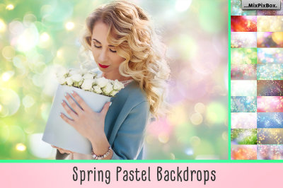 Spring Backdrop Overlays