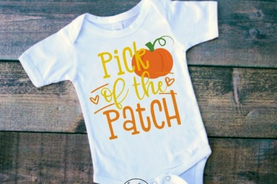 Pick of the Patch Pumpkin Fall SVG DXF EPS PNG Cut File • Cricut • Si