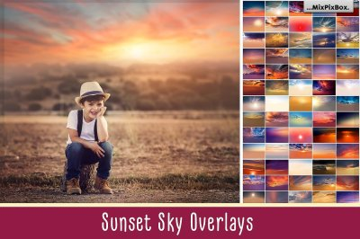 Sunset Sky Photo Overlays