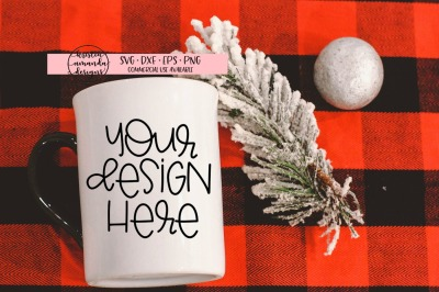 Christmas Coffee Mug Mock Up