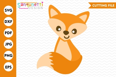 Fox SVG, woodland svg, Fall svg, baby fox, fox cut file