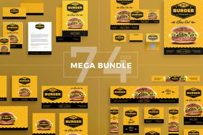 Design templates bundle | flyer, banner, branding | Burger House