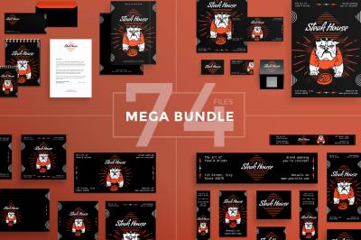 Design templates bundle | flyer, banner, branding | Steak House