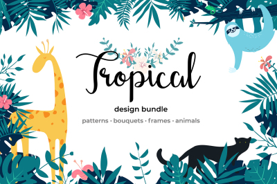 Tropical Design Graphics Bundle