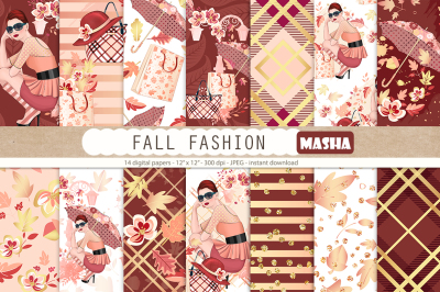 FALL FASHION digital papers