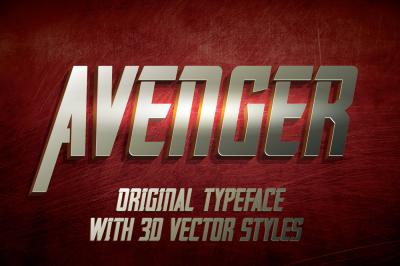 Avenger label typeface