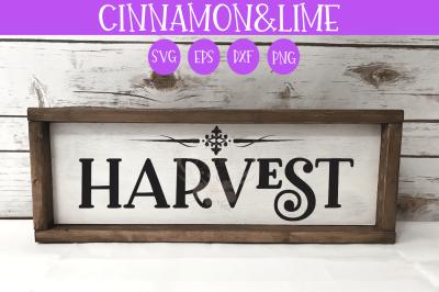 Harvest Thanksgiving Fall Sign SVG
