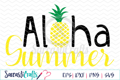 Aloha Summer - SVG PNG EPS DXF