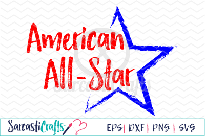 American All-Star - EPS PNG DXF SVG