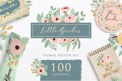 Little Garden - Floral Vector Set