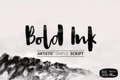 Bold Ink Simple Script