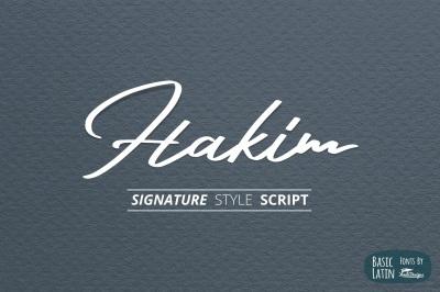 Hakim Signature Font