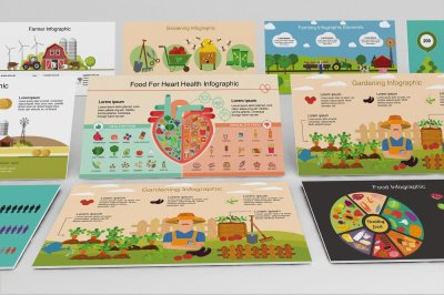 Mega Food PowerPoint Infographic Set