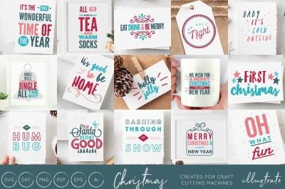 Christmas Quotes SVG Cut Files Bundle