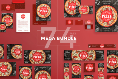 Design templates bundle | flyer, banner, branding | Pizza Restaurant