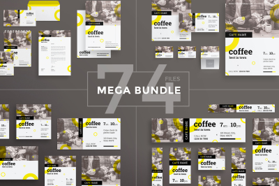 Design templates bundle | flyer, banner, branding | Coffee House