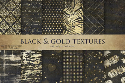 Vintage Black & GoldTextures