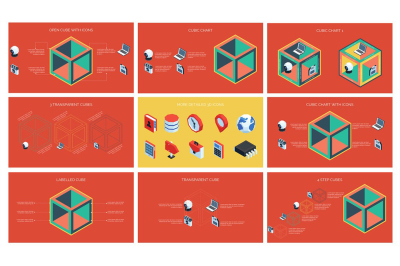 3D Cube Infographics