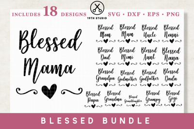 Blessed Family SVG bundle - SVG DXF EPS PNG | M1