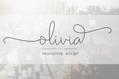 Olivia - Elegant Monoline Script