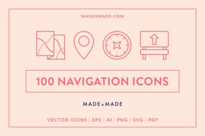 Line Icons – Navigation