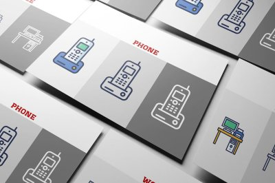 Smart Flat Presentation Icon Set