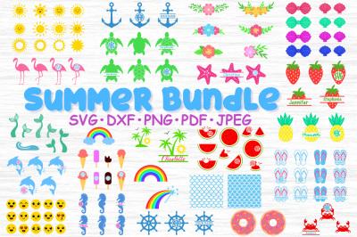 Big Summer bundle svg, Summer svg, Summer bundle clipart, Summer cut