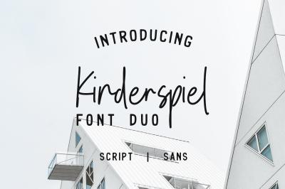 Kinderspiel - Font Duo
