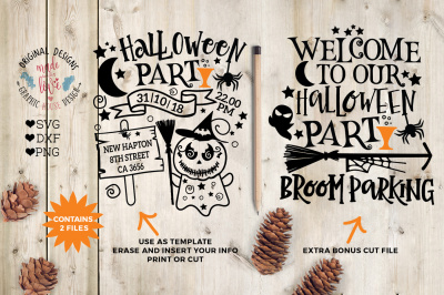 Halloween Party Template & Cut File