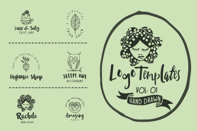 Feminine premade hand drawn logo vol 01