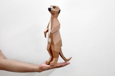 DIY Meerkat - 3d Papercraft
