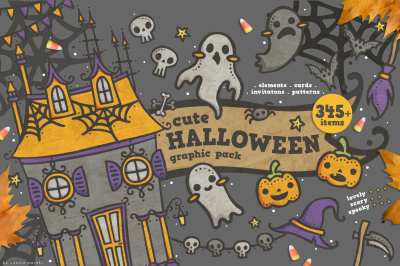 Cute Halloween - graphic pack