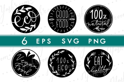 Eco Labels Silhouette SVG Collection