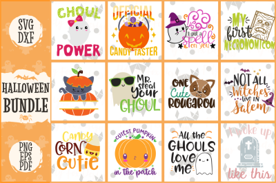 Halloween Svg Bundle, Dxf Eps Pdf Png Spooky Bundle
