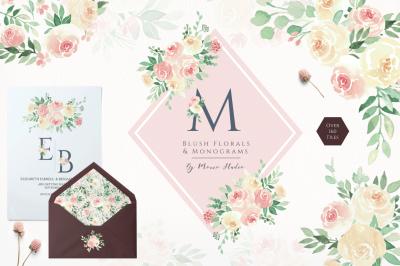 Blush Florals & Monograms