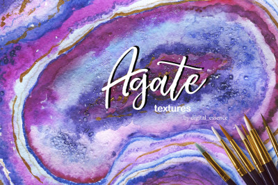 Agate 2 watercolor collection