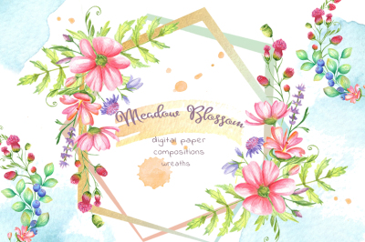 Meadow Blossom Watercolor
